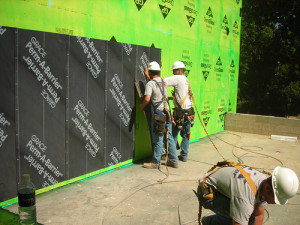 Kinzler Construction Services are experts at installing air barrier systems.