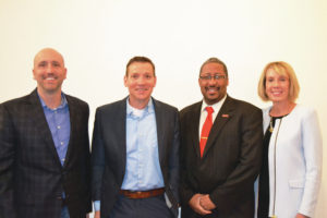 Brian Schwartze, Tony Hogan, Martino Harmon, Kim Linduska (not pictured Jane Acker) are new members of the United Way of Story County Board of Directors. Contributed photo