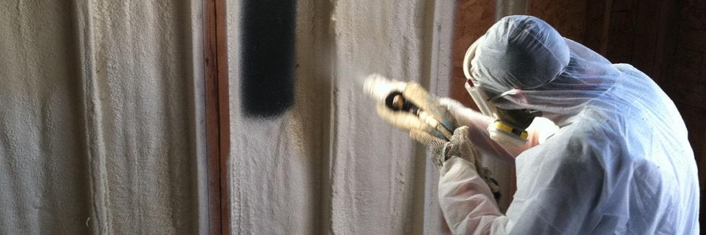 Kinzler Begins Installing Spray Foam