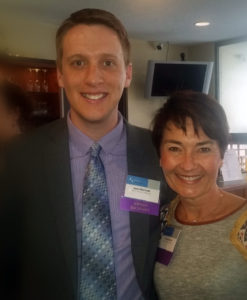 Kinzler Marketing Director Jason Mortvedt and Co-Founder Yvonne Kinzler at the Ames Chamber Annual Awards Recognition event.