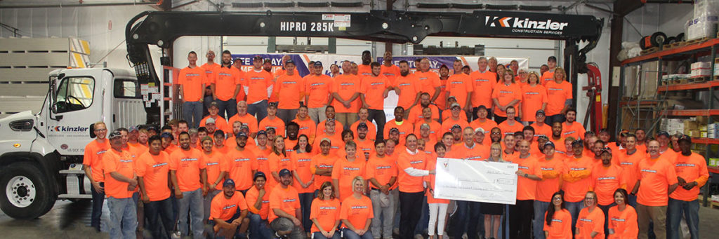 Kinzler Celebrates 1 Million Safe Man-Hours & Is Named a Top Workplace