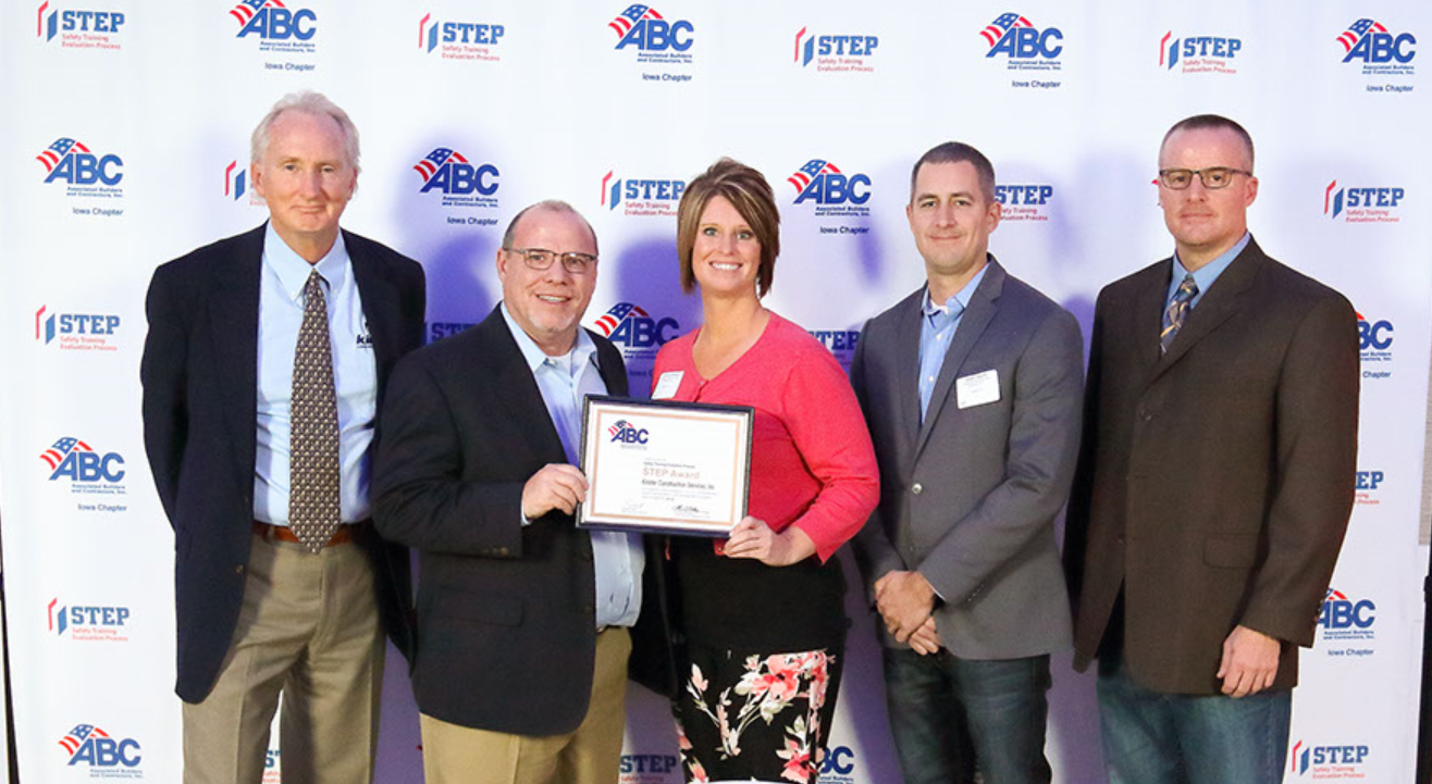Kinzler Honored For Safety Kinzler Construction Services